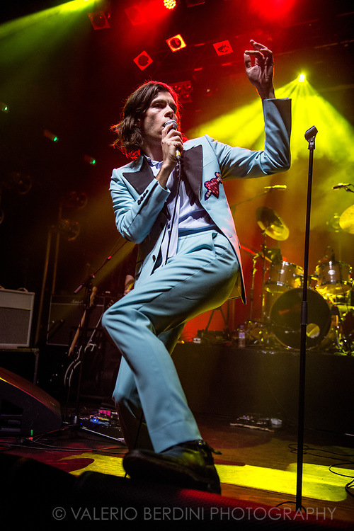 James Righton (former singer of Klaxons) now frontman of London band Shock Machine opening for The Lemon Twigs at Koko London on 29 Mar 2017