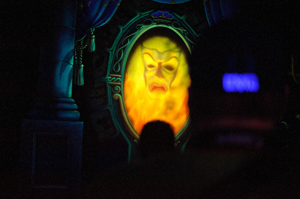 "photo by Matt Roth.Tuesday, May 1, 2012..The famed Magic Mirror in the Disney classic cartoon film ""Snow White and the Seven Dwarfs"" is part of the ""Snow White's Scary Adventure ride."" After forty-one-years, Disney World is closing the Snow White's Scary Adventure ride June 1st of this year."