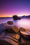Bonsai Rock at sunset, Lake Tahoe, Nevada