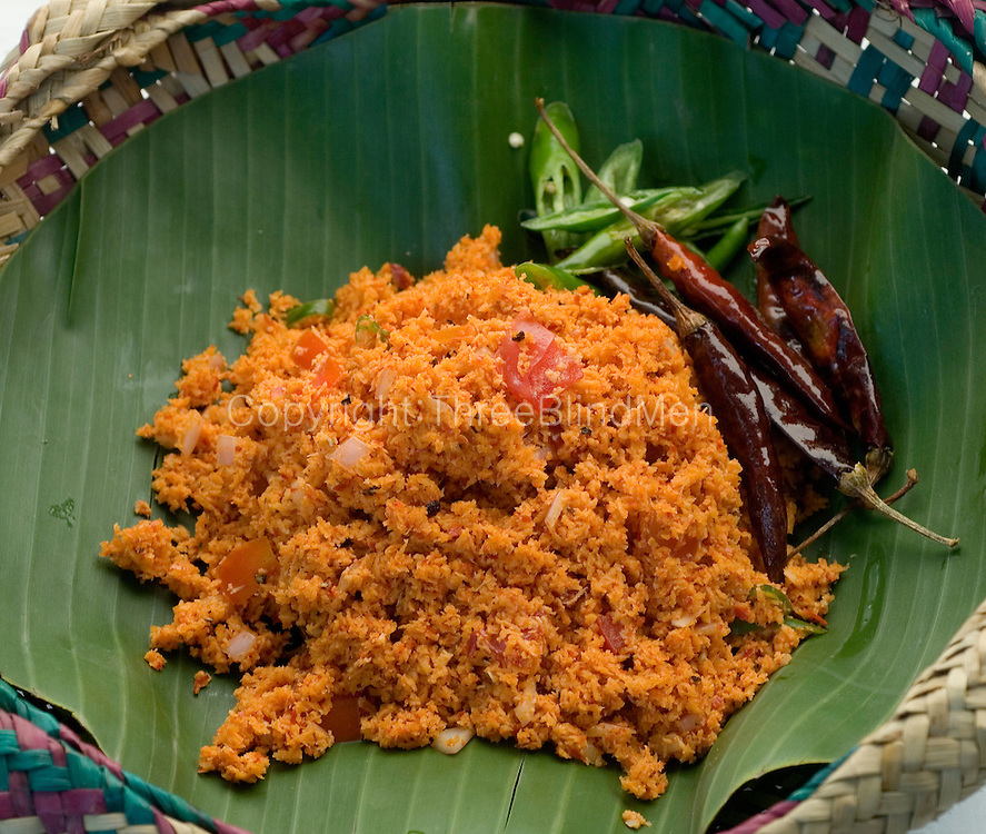 Pol Sambol is made from freshly grated coconut and then mixed with anything from onions, dreid parawns, Maldive fish, onion, tomoato, chillies, and turmeric.