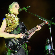 """COLUMBIA, MD - July 17th, 2014 - St. Vincent performs at Merriweather Post Pavilion, opening for Queens of the Stone Age. Her performance included songs such as """"Birth In Reverse"""" and """"Surgeon."""" (Photo by Kyle Gustafson / For The Washington Post)"""