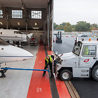 Maintenance hub in Farnborough airport, UK.