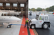Maintenance hub in Farnborough airport, UK.