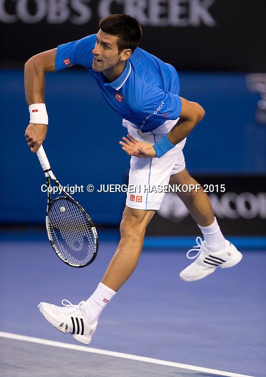 Novak Djokovic (SRB)<br /> <br /> Tennis - Australian Open 2015 - Grand Slam ATP / WTA -  Melbourne Olympic Park - Melbourne - Victoria - Australia  - 1 February 2015.