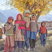 A group of Muslim children in the Suru Valley, Kargil District, Ladakh.