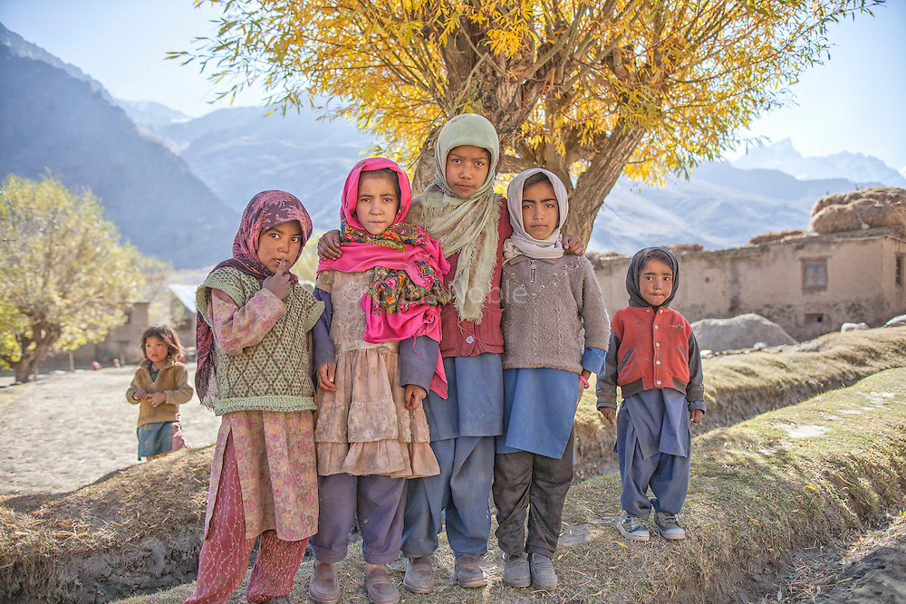 A group of Muslim children in the Suru Valley, Kargil District, Ladakh.