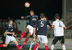 Falkirk's Lyle Taylor scoring their second goal..Falkirk 2 v 0 Livingston, 19/2/2013..©Michael Schofield.