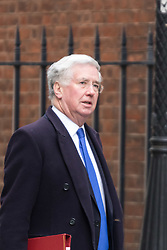 Downing Street, London, March 8th 2016. Defence Secretary Michael Fallon arrives for the weekly UK cabinet meeting at Downing Street. &copy;Paul Davey<br /> FOR LICENCING CONTACT: Paul Davey +44 (0) 7966 016 296 paul@pauldaveycreative.co.uk