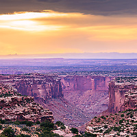 A view of the canyon landscape in Canyonlands National Park, Utah.