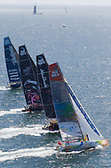 FRANCE, Lorient. 1st July 2012. Volvo Ocean Race, Start Leg 9 Lorient-Galway. l-r Team Telefonica, PUMA Ocean Racing powered by BERG, Abu Dhabi Ocean Racing and Team Sanya.