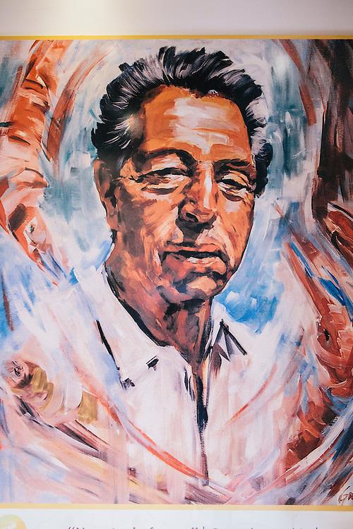 Portrait of founder Mr. Ramiro, of Cervejaria Ramiro, Lisbon
