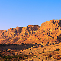 The Ein Gedi kibbutz and nearby hills.