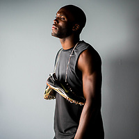 6/12/12 6:16:51 PM -- Bradenton, FL. -- Olympian LaShawn Merritt, who competes in the 400 meters, poses for a portrait at the IMG Performance Institute in Bradenton, Florida. ...Photo by Chip J Litherland, Freelance.