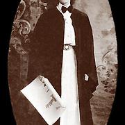 Vintage Photo: American Woman graduate, circa 1900