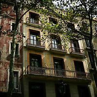 20110902 - Barcelona, Spain - Architecture in Barri Gotic in Barcelona, Spain..(Matthew Healey)
