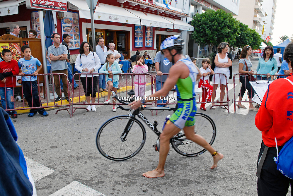 Home de Ferro, long distance triathlon competition in Ibiza, Spain