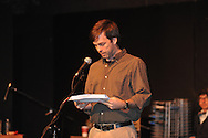 """Greg Earnest as James O'Hanlon rehearses for """"Yes Virginia, There Is A Santa Claus"""" at the Powerhouse in Oxford, Miss. on Wednesday, December 12, 2012."""