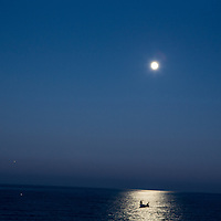 Night fishing off the coast between Unye and Sinop.