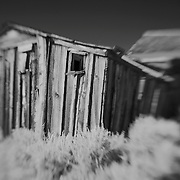 Collapsing Shack - Bodie, CA - Lensbaby - Infrared Black & White
