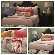 CUSTOM BEDDING, UPDATED FURNITURE, FUN LAMPS, AND FRESH FLOWERS CREATE THIS RELAXING RETREAT!