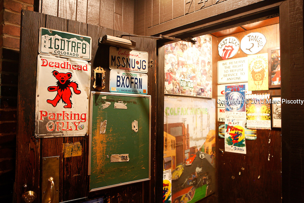 SHOT 1/5/12 11:44:08 PM - Sancho's Broken Arrow on Colfax Avenue in Denver, Co. Sancho's is a dive bar with plenty of Grateful Dead playing on the jukebox and a decidedly hippie vibe throughout. (Photo by Marc Piscotty /  © 2012)