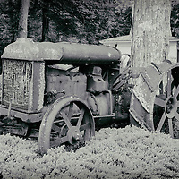 Fordson tractor on the grounds of the Connecticut Antique Machinery Association