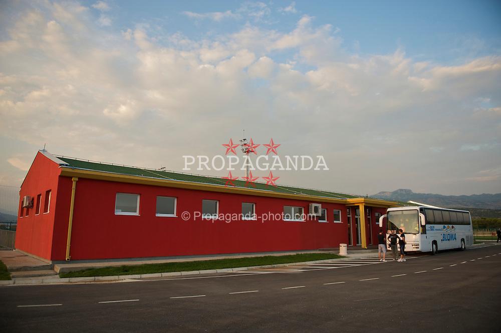 PODGORICA, MONTENEGRO - Monday, August 10, 2009: The Montenegro Football Association's Technical Centre in Podgorica. (Photo by David Rawcliffe/Propaganda)