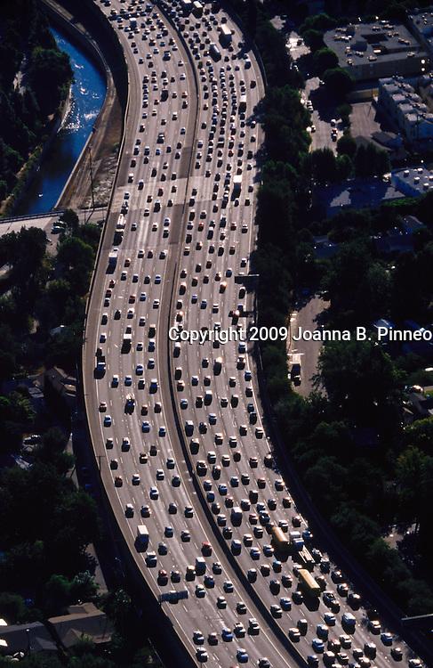 Traffic in Los Angeles, California.