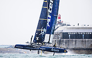 Image licensed to Lloyd Images. Free for editorial use. <br /> Pictures of Official Practice Day 24.07.15 - Artemis Racing skippered by Nathan Outteridge <br /> Credit: Lloyd Images