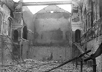 The interior of a ruined building, possibly the Coliseum Theatre on Princes St beside the GPO, after the Easter Rising. (Part of the Independent Newspapers Ireland/NLI Collection)