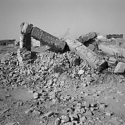 A view of the remains of a bombed out building beside the main compound at Tarnak Farms, the al Qaeda base, training camp and pre 9/11 al Qaeda headquarters in Kandahar, Afghanistan which served as a home to Osama Bin Laden and numerous al Qaeda fighters located outside Kandahar City. It is believed that this base was where the plan for the 9/11 attacks originated, as a result Tarnak Farms was heavily bombed by the United States after September 11, 2001. (Credit Image: © Louie Palu/ZUMA Press)...