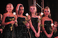 Dancers wait to see if they have won an award at the New York Dance Alliance's national competition finale July 10, 2005 in New York City. <br />