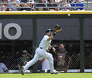CHICAGO - AUGUST 31:  Adam Eaton #1 of the Chicago White Sox fields against the Detroit Tigers on August 31, 2014 at U.S. Cellular Field in Chicago, Illinois.  (Photo by Ron Vesely)
