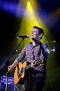 Roy Stride of Scouting For Girls performs live on stage at Wembley Arena on April 8, 2011 in London, England.  (Photo by Simone Joyner)