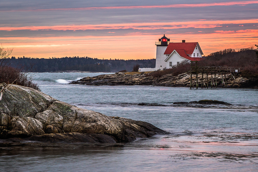 There's a great view of this lighthouse from a small public beach in Southport, just a few miles from Boothbay.