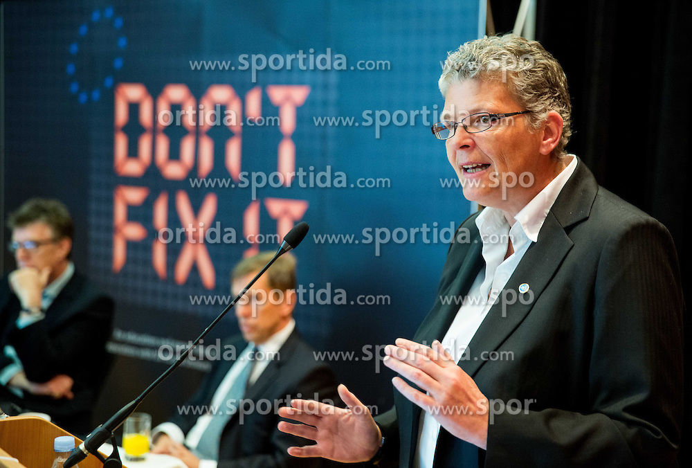 """Dr. Julie Norris of Interpol during FIFPro """"Don't Fix it"""" Project Concluding Conference on June 4, 2014 in Grand Hotel Union, Ljubljana, Slovenia. Photo by Vid Ponikvar / Sportida"""
