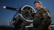 Bryan Heim, aka PFC Earl, and a BT-13 at Warbirds Over the West.