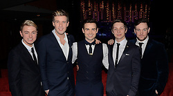 Collabro, winners of TV show Britain's Got Talent perform in concert as part of their first tour at Cliff's Pavillion Theatre, Southend, Essex on Thursday 29 January 2015