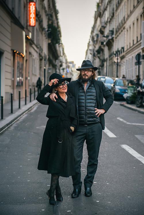 Trendy couple in Paris