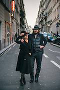 Trendy couple in Paris