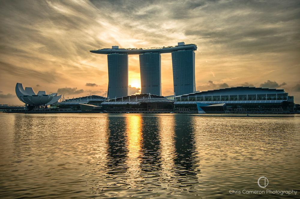 Art Science Museum, Marina Bay Sands Hotel, Marina Bay, Singapore.