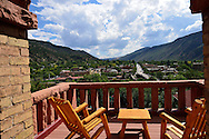 Hotel Colorado balcony, Glenwood Springs, Colorado, USA