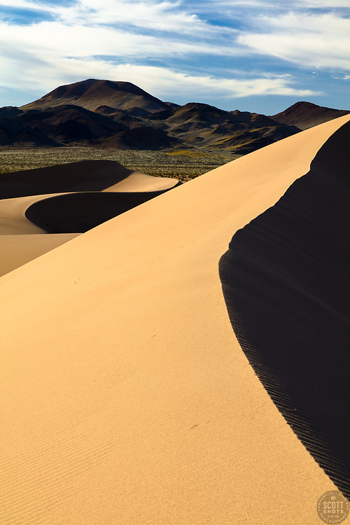 """""""Ibex Dunes 3"""" - Abstract photograph of Ibex Sand Dunes in Death Valley, California."""