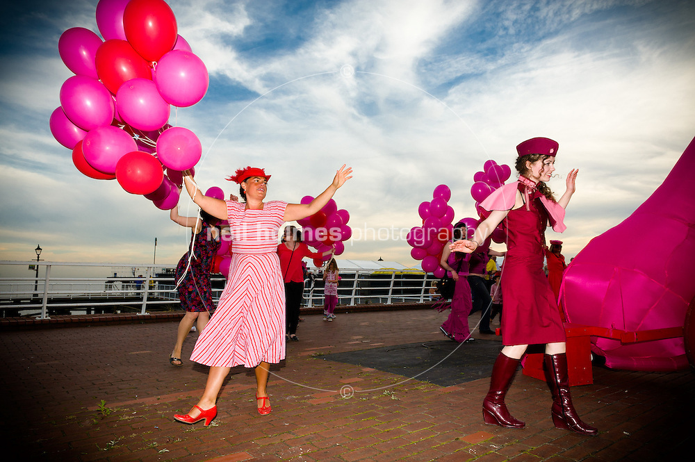 Freedom Festival 2012, Hull East Yorkshire, Saturday 8 September 2012. Pictured: Love Parade featuring the Love Cannon
