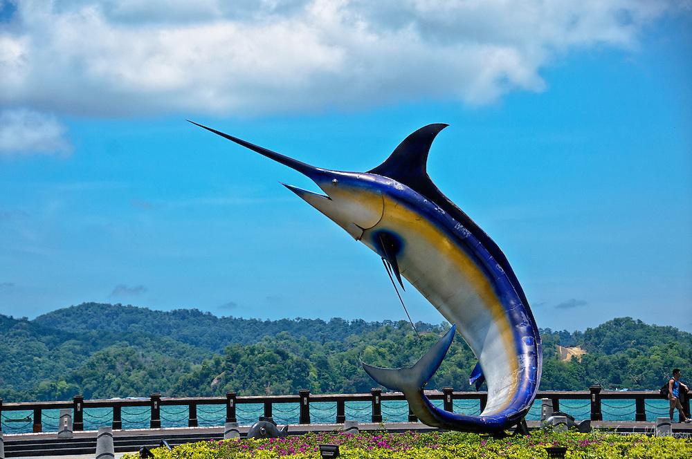 Swordfish Statue on the coast of Kota Kinabalu in Sabah, Malaysian Boreno For more information, visit http://cheeseweb.eu/2013/05/visiting-kota-kinabalu-sabah-malaysian-borneo/