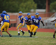Oxford vs. Pontotoc in 9th grade football action ay Bobby Holcomb Field in Oxford, Miss. on Tuesday, September 7, 2010.