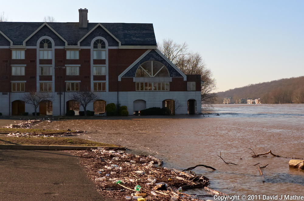 Delaware river after late winter flooding under the Labertville Inn. Image take with a Leica D-Lux 5 camera (ISO 100, 11 mm, f/4, 1/800 sec).