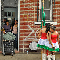 Jackson Heights, New York -Latinos show their pride of their origens at the anual  Queens Hispanic Parade, Sept. 28, 2008. The area is a bustling urban melting pot with many ethnic populations, but mainly consists of Latin Americans.
