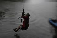 Rope swing, Cane Creek tributary, Catawba River