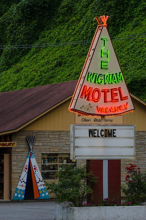 The Wigwam Motel, Cherokee North Carolina